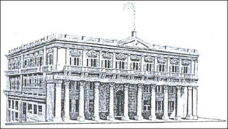 The Parliament Building in Uruguay, engraved by Slania.